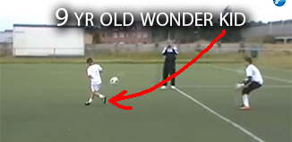 9 yr-old soccer prodigy featured